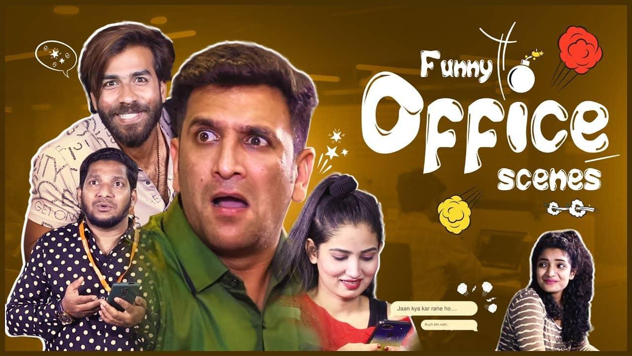 Funny Office Scenes || Kiraak Hyderabadiz || Silly Monks