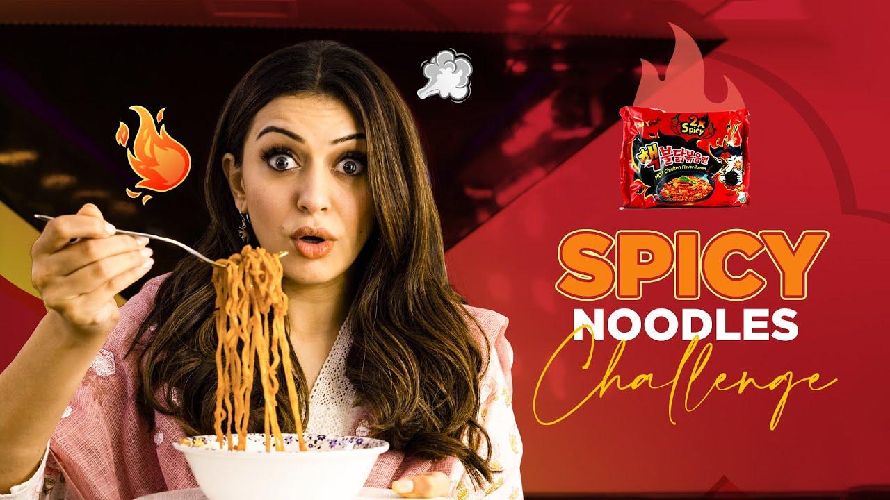 Spicy Noodles Challenge🔥 || Samyang Korean 2X Spicy Noodles || Hansika Motwani || Silly Monks