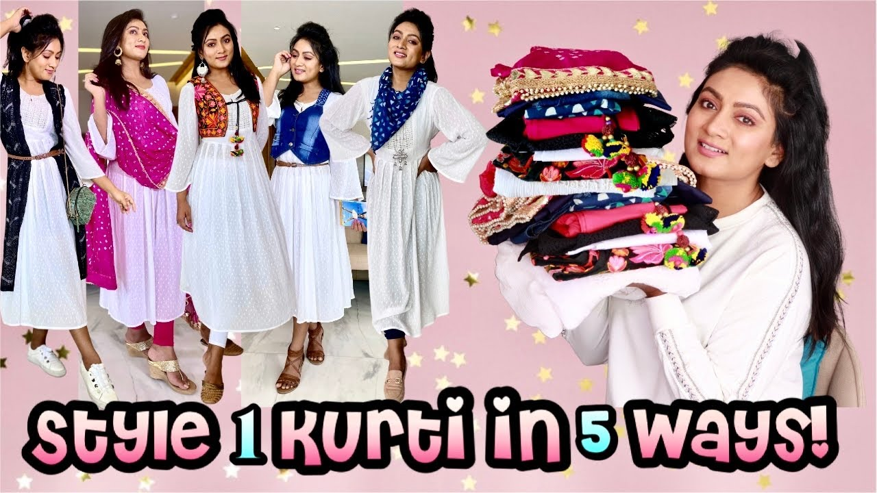 How to Style 1 White Kurti in 5 ways || Western or Traditional || get creative! || Ashtrixx